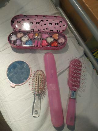 juego de maquillaje y peluquería
