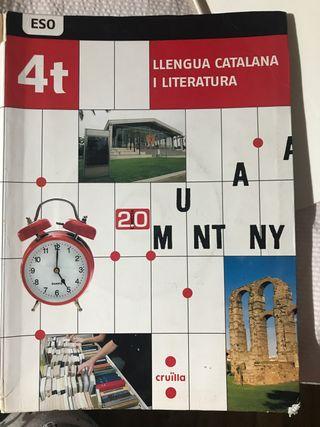 Libro lengua catalana y literatura 4 ESO