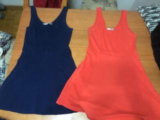 Pack vestido rojo y azul