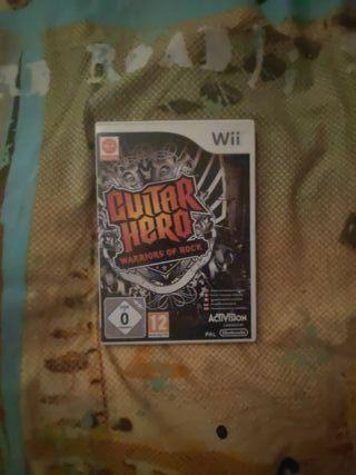 Guitarra de consola + juego (Guitar Hero)