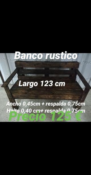 Banco de madera rustica