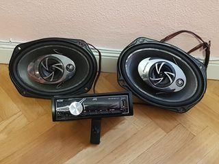 Radio JVC KD-X210 y Altavoces PIONEER TS-A6911