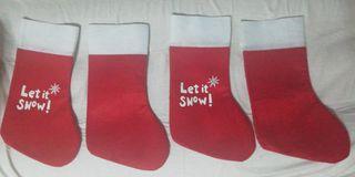 Calcetines decoración Navidad nuevos