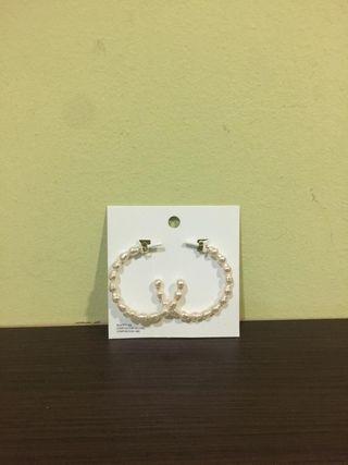 pendientes aros perlas