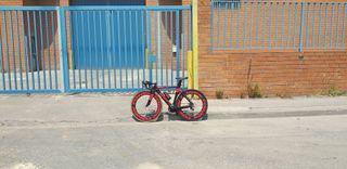 bicicleta carretera aero carbono