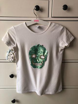 Camiseta lentejuelas niña