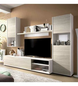 Mueble salón comedor moderno para televisión