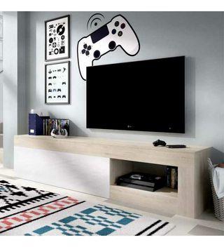 Mueble largo módulo de televisión salón comedor