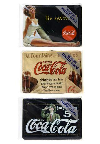 Nostalgic-Art lote 3 postales metálicas Coca-Cola