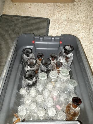 botellas cristal farmacia