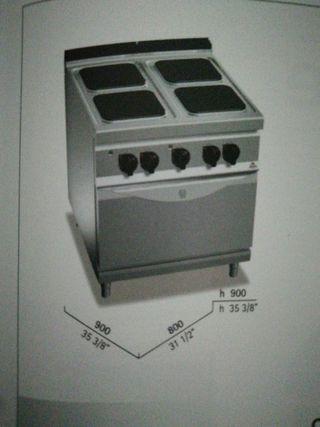 cocina 4 fuegos mas horno eléctrica bertos