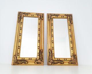 Pareja espejos ornamentados