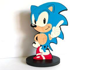 Sonic The hedgehog Figura de madera 25cm Fan art