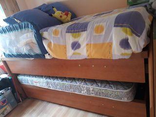 Cama nido con doble canapé