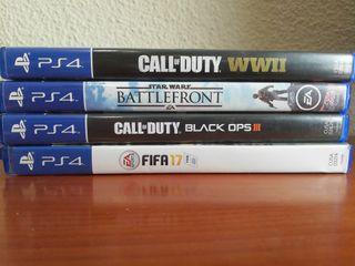 Juegos PS4. También venta por separado