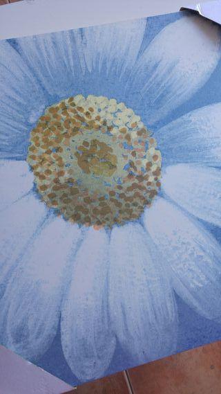 cuadro cuadrado flor