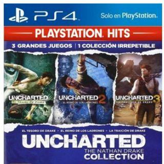 trilogía uncharted ps4