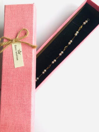 Pulsera de oro de 18kt y perlas cultivadas