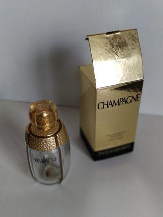 botella vacía perfume Yvresse Champagne