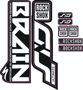 kit pegatinas rock shox sid brain
