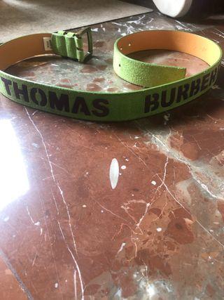 Cinturón piel verde Thomas Burberry