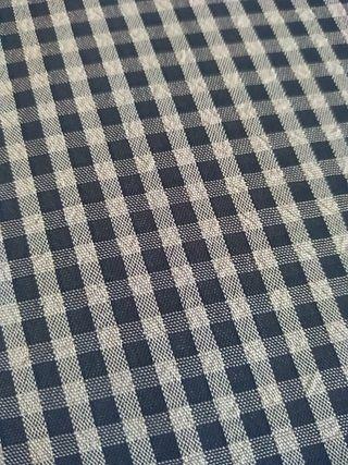 Retal de tela de cres cuadros finos azul y blanco