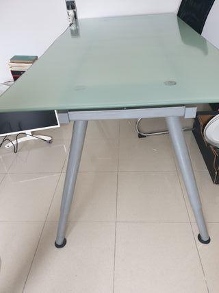1,60x0,8 Mesa escritorio cristal