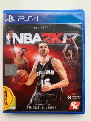 NBA2K17 PS4 PAU GASOL BALONCESTO WALLACHALLENGE