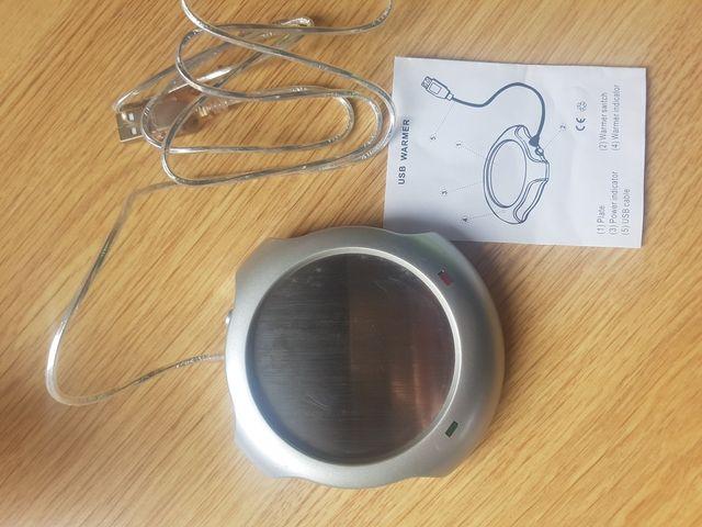 Calentador de bebidas por USB.