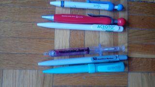Bolígrafos sanitarios.