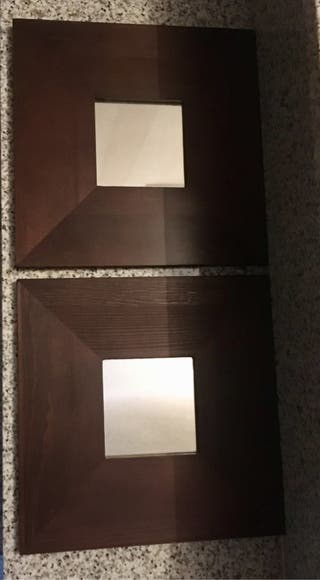 Cuadro/espejo Ikea de madera