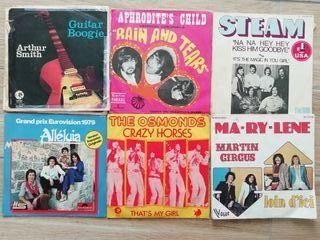 lote singles pop rock, años 70