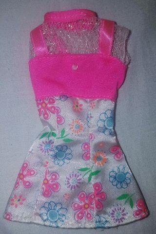 Vestido de muñeca Barbie Flower Fun año 1996