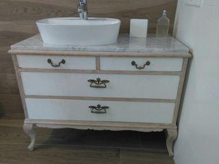 Mueble baño,cajonera vintage con pica y griferia