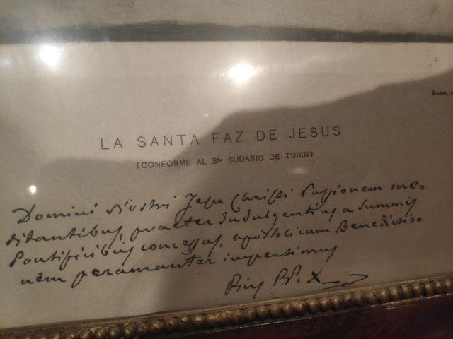 Cuadro Santa Faz. Arte religioso.