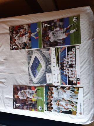 postales del real Madrid cf