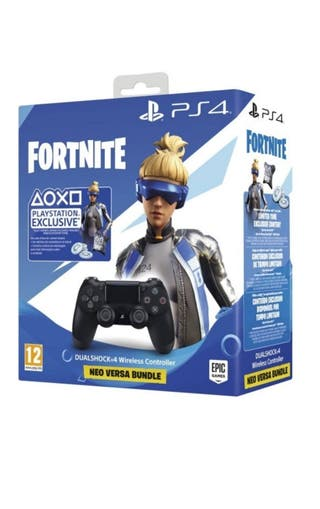 Mando DualShock PS4 Negro + Fortnite Bundle.