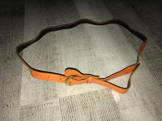 Cinturón naranja fino mujer
