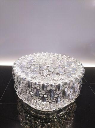 Pieza vintage de vidrio para plafón