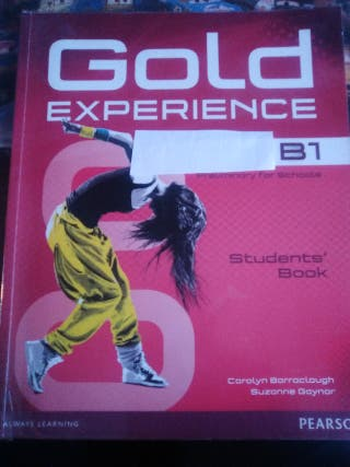 LIBRO GOLD EXPERIENCE B-1 INGLES