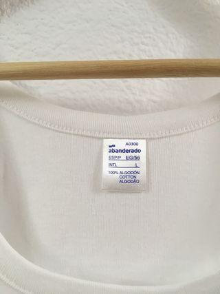 Lote 2 - Camiseta Tirantes Hombre Blanca Talla L