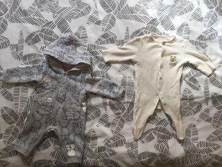Mono y pijama bebé 1m