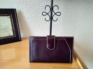 Cartera - monedero color marrón.