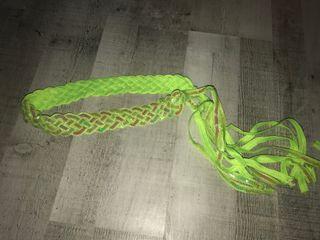 Cinturón verde lentejuelas mujer