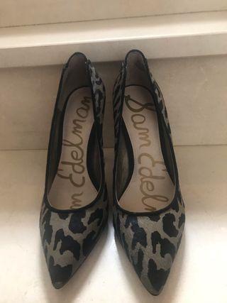 Zapatos tacón animal print SAM EDELMAN