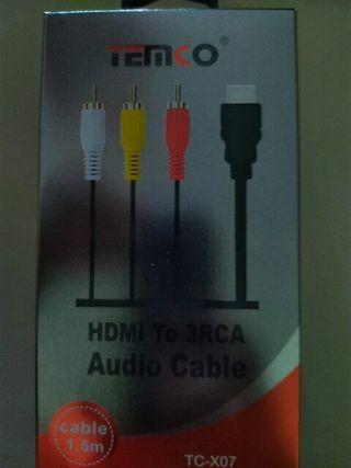Cable HDMI a 3RCA