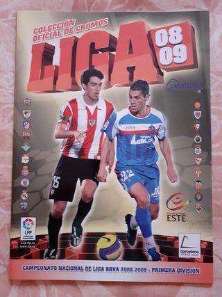 Album plancha colecciones este liga 2008-2009