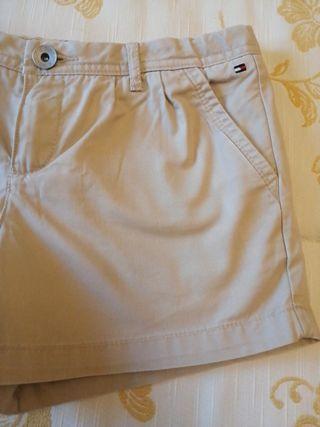 pantalón corto niña tommy hilfiger talla12