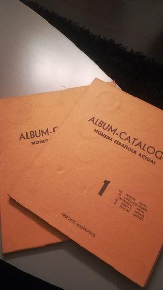 álbum catálogo moneda española actual 1-2