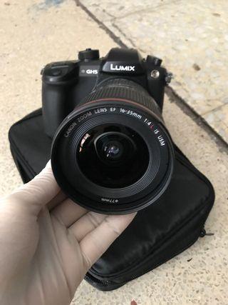 Panasonic Lumix dc-gh5 y lente alta potencia